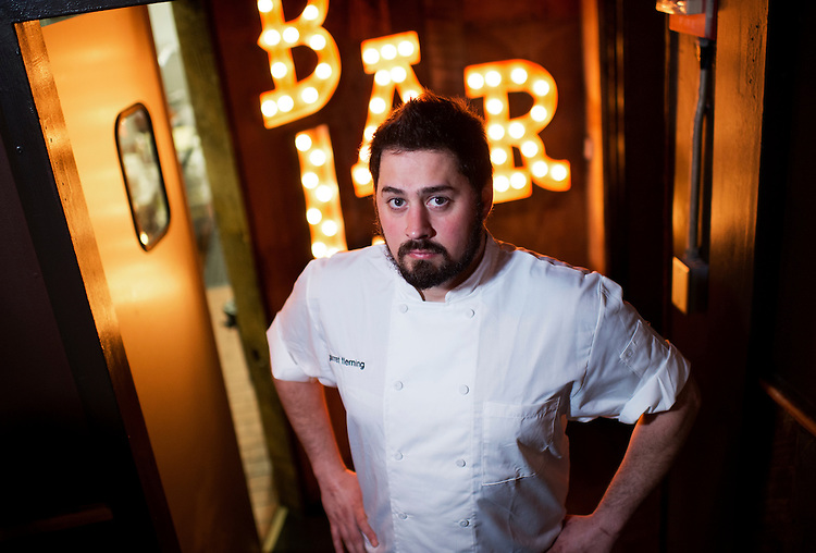 UNITED STATES - MAY 14: Chef Garret Fleming of Barrel restaurant on Pennsylvania Avenue, SE, is photographed, May 14, 2014. (Photo By Tom Williams/CQ Roll Call)