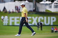 Rory McIlroy (NIR) after barely missing his birdie putt on 8 during round 1 of the 2019 Tour Championship, East Lake Golf Course, Atlanta, Georgia, USA. 8/22/2019.<br /> Picture Ken Murray / Golffile.ie<br /> <br /> All photo usage must carry mandatory copyright credit (© Golffile | Ken Murray)