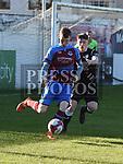 Drogheda United Mark Doyle Finn Harps Michael Gallagher. Photo:Colin Bell/pressphotos.ie