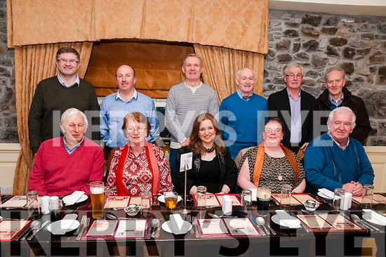 Annual Dinner : The Ballydonoghue Parish magazine committee enjoying their annual dinner at Behan's Horseshoe Restaurant, Listowel on Friday night last. Front : Mick Browne, Marian O'Connor, Collrtte O'Connor, Marie Leahy & Jin Finnerty. Back : Conor......, Jim Sheehy, Sean Linnane, David Kissane, Teddy Murphy & Connie Nolan.