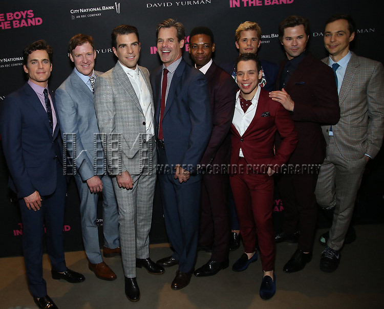 Matt Bomer, Brian Hutchison, Zachary Quinto, Tuc Watkins, Michael Benjamin Washington, Charlie Carver, Robin de Jesus, Andrew Rannells and Jim Parsons attends the 'The Boys In The Band' 50th Anniversary Celebration at The Second Floor NYC on May 30, 2018 in New York City.