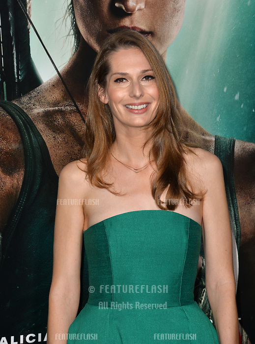 Geneva Robertson-Dworet at the US premiere for &quot;Tomb Raider&quot; at the TCL Chinese Theatre, Los Angeles, USA 12 March 2018<br /> Picture: Paul Smith/Featureflash/SilverHub 0208 004 5359 sales@silverhubmedia.com