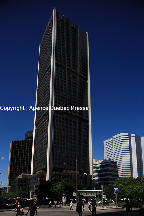 Montreal (Qc) Canada - June 23 2009 - Victoria Square Montreal Stock Exchange Tower<br /> <br /> Downtown Montreal