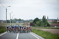 Team Total-Direct Energie riders in front of the peloton. <br /> <br /> GP Marcel Kint 2019 (BEL)<br /> One Day Race: Kortrijk – Zwevegem 188.10km. (UCI 1.1)<br /> Bingoal Cycling Cup 2019