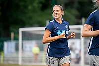 Kansas City, MO - Saturday July 22, 2017: Abby Dahlkemper during a regular season National Women's Soccer League (NWSL) match between FC Kansas City and the North Carolina Courage at Children's Mercy Victory Field.