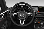 Car pictures of steering wheel view of a 2019 Mazda MX-5 RF Club 2 Door Targa