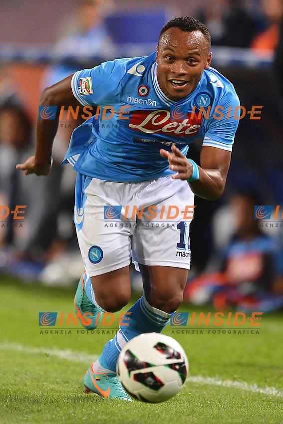 """Camilo Zuniga Napoli.Napoli 26/9/2012 Stadio """"San Paolo"""".Football Calcio Serie A 2012/2013.Napoli Vs Lazio.Foto Andrea Staccioli Insidefoto"""