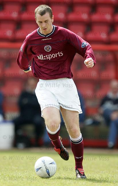 Stephen Simmons, Hearts.stock season 2003-2004.pic willie vass