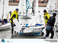 The Trofeo Princesa Sofia Iberostar celebrates this year its 50th anniversary in the elite of Olympic sailing in a record edition, to be held in Majorcan waters from 29th March to 6th April, organised by Club Nàutic S'Arenal, Club Marítimo San Antonio de la Playa, Real Club Náutico de Palma and the Balearic and Spanish federations. ©Tomas Moya/SAILING ENERGY/50th Trofeo Princesa Sofia Iberostar<br /> 01 April, 2019.
