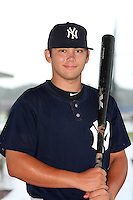 GCL Yankees infielder Dante Bichette Jr after a game against the GCL Blue Jays at the Englebert Complex on June 23, 2011 in Dunedin, Florida.  The Blue Jays defeated the Yankees 3-2.  (Mike Janes/Four Seam Images)