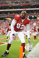 Sept. 27, 2009; Glendale, AZ, USA; Arizona Cardinals defensive end Bertrand Berry against the Indianapolis Colts at University of Phoenix Stadium. Indianapolis defeated Arizona 31-10. Mandatory Credit: Mark J. Rebilas-