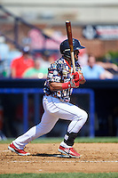 Reading Fightin Phils second baseman Jesmuel Valentin (2) at bat during a game against the New Hampshire Fisher Cats on June 6, 2016 at FirstEnergy Stadium in Reading, Pennsylvania.  Reading defeated New Hampshire 2-1.  (Mike Janes/Four Seam Images)