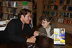"""Fan chats with The Young and The Restless Sean Kanan """"Deacon"""" held a book signing on September 15, 2011 for his new book """"The Modern Gentleman - Cooking and Entertaining with Sean Kanan"""" at the Drama Book Shop, New York City, New York. """"Don't just set the table, set the mood.""""  In this book """"Sean Kanan, author, actor, producer and self-taught chef offers expert field-tested instruction on how any guy can become a refined, knowledgeable chef."""" (Photo by Sue Coflin/Max Photos)"""