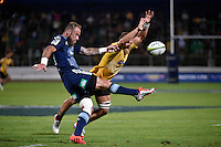 Jimmy Cowan in action during the Super Rugby - Hurricanes v Blues at FMG Stadium, Palmerston North, New Zealand on Friday 13 March 2015. <br /> Photo by Masanori Udagawa. <br /> www.photowellington.photoshelter.com.