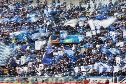 Gamba Osaka fans, NOVEMBER 8, 2014 - Football / Soccer : 2014 J.League Yamazaki Nabisco Cup final match between Sanfrecce Hiroshima 2-3 Gamba Osaka at Saitama Stadium 2002 in Saitama, Japan. (Photo by AFLO SPORT) [1180]