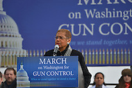 January 26, 2013  (Washington, DC)  D.C. Delegate Eleanor Holmes Norton speaks during a rally for gun control on the National Mall in Washington, D.C.  (Photo by Don Baxter/Media Images International)