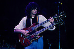 Jimmy Page of LED ZEPPELIN live at Madison Square Garden in 1983.