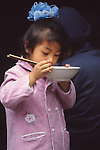China, a young girl in Kunming