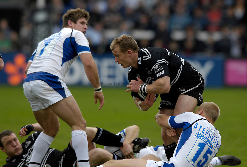 Photo: Jed Wee/Sportsbeat Images..Newcastle Falcons v Bath Rugby. Guinness Premiership. 28/04/2007...Newcastle's Jamie Noon.
