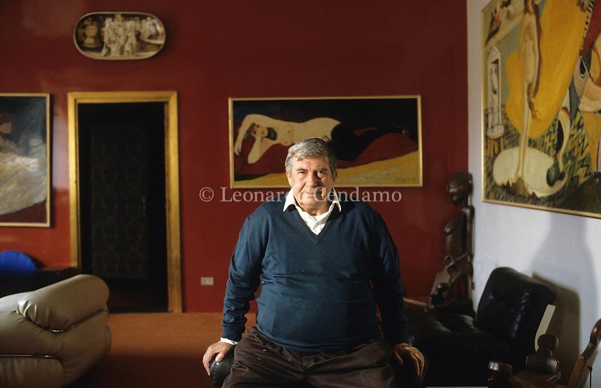 Salvatore Fiume, pittore, Canzo ( Como ),  © Leonardo Cendamo