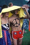 CND Campaign for Nuclear Disarmament. Anti Thatcher Reagan march and rally Hyde Park London 1982