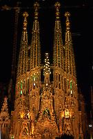 Spanien, Katalonien, Barcelona, Kathedrale Sagrada Familia erbaut von Antoni Gaudi, Unesco-Weltkulturerbe