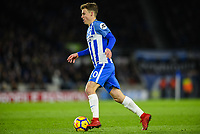 Solly March of Brighton & Hove Albion (20)   during the EPL - Premier League match between Brighton and Hove Albion and Burnley at the American Express Community Stadium, Brighton and Hove, England on 16 December 2017. Photo by Edward Thomas / PRiME Media Images.