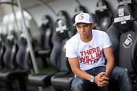 Pictured: Jefferson Montero of Swansea City FC at the Liberty Stadium, south Wales. UK Thursday 27 August 2015