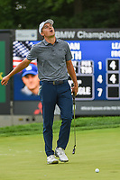 Jordan Spieth (USA) barely misses his eagle putt on 5 during Rd3 of the 2019 BMW Championship, Medinah Golf Club, Chicago, Illinois, USA. 8/17/2019.<br /> Picture Ken Murray / Golffile.ie<br /> <br /> All photo usage must carry mandatory copyright credit (© Golffile   Ken Murray)