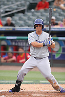 Joc Pederson of Team Israel at bat during a game against Team Spain during the World Baseball Classic preliminary round at Roger Dean Stadium on September 21, 2012 in Jupiter, Florida. Team Israel defeated Team Spain 4-2. (Stacy Jo Grant/Four Seam Images)