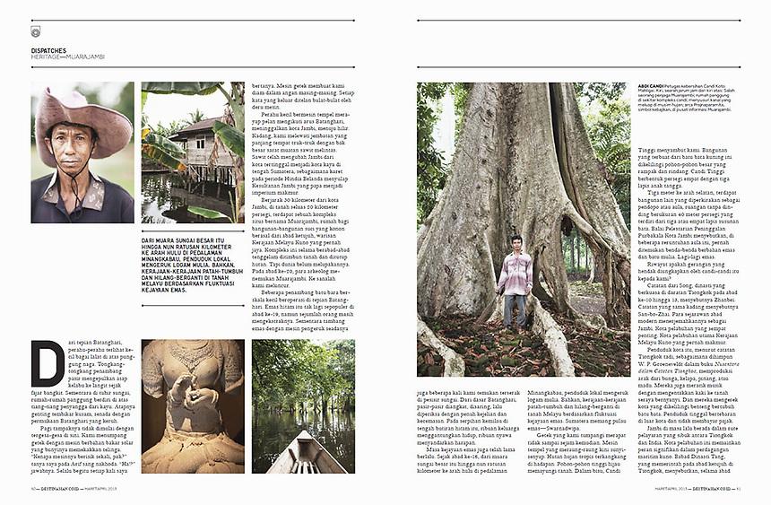 Muara Jambi reportage on DestinAsian Indonesia May April 2013 Edition