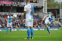 Blackburn Rovers' Stewart Downing hits a free-kick<br /> <br /> Photographer Kevin Barnes/CameraSport<br /> <br /> The EFL Sky Bet Championship - Blackburn Rovers v Luton Town - Saturday 28th September 2019 - Ewood Park - Blackburn<br /> <br /> World Copyright © 2019 CameraSport. All rights reserved. 43 Linden Ave. Countesthorpe. Leicester. England. LE8 5PG - Tel: +44 (0) 116 277 4147 - admin@camerasport.com - www.camerasport.com