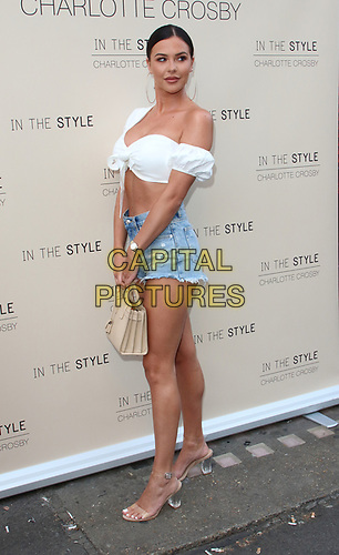 Shelby Tribble at the Charlotte Crosby In The Style Launch Party at Nikki's Bar, Hoxton Square, London on July 4th 2019<br /> CAP/ROS<br /> ©ROS/Capital Pictures