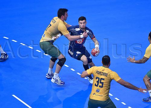 11.01.2017. Accor Arena, Paris, France. 25th World Handball Championships France versus Brazil. Nedim Remili (France)