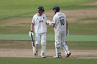 Tom Westley and Nick Browne enjoy a useful partnership for Essex during Warwickshire CCC vs Essex CCC, Specsavers County Championship Division 1 Cricket at Edgbaston Stadium on 12th September 2019