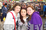 Pictured at Listowel Races on Sunday, from left: Amie Foley (Tarbert), Layna Spillane (Tarbert) and Emma Daly (Glin)..