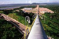 Cia. Vale do Rio Doce. Vista da esteira transportadora. Serra do Sossego.<br />Canãa dos Carajás-Pará-Brasil<br />Foto: Paulo Santos/ Interfoto<br />Negativo 135 Nº 8501 T2 7 F8a<br />03/2004