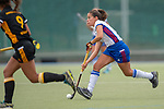 Mannheim, Germany, September 07: During the field hockey Bundesliga match between Mannheimer HC and Harvestehuder THC on September 7, 2019 at Am Neckarkanal in Mannheim, Germany. Final score 2-0. (Photo by Dirk Markgraf / www.265-images.com) *** Lucina van der Heyde #2 of Mannheimer HC