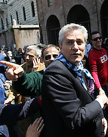 Il candidato sindaco di Roma Francesco Rutelli alla manifestazione per il sessantatreesimo anniversario della Liberazione dal nazifascismo, a Roma, 25 aprile 2008..Center-left candidate Rome Mayor Francesco Rutelli takes part in a demonstration for the 63rd anniversary of Italy's Liberation from nazifascism, in Rome, 25 april 2008..UPDATE IMAGES PRESS/Riccardo De Luca