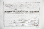 Mount Rainier, Seattle, Joel Rogers, Journal Art 2002, charcoal on paper,