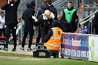 Grimsby's manager Ian Holloway chatting with a steward during Leyton Orient vs Grimsby Town, Sky Bet EFL League 2 Football at The Breyer Group Stadium on 11th January 2020
