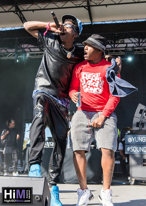 Yung Nation performs at the 2014 Voodoo Music Experience in New Orleans, LA.