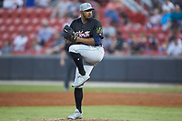 Dalbert Siri (48) of the Lynchburg Hillcats in action during the 2018 Carolina League All-Star Classic at Five County Stadium on June 19, 2018 in Zebulon, North Carolina. The South All-Stars defeated the North All-Stars 7-6.  (Brian Westerholt/Four Seam Images)