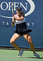 Alize Cornet (FRA) against Jie Zheng (CHN) ((21) in the second round. Zheng beat Cornet  1-6 6-3 6-3..International Tennis - US Open - Day 3 Wed 02 Sep 2009 - USTA Billie Jean King National Tennis Center - Flushing - New York - USA ..© Frey, Advantage Media Network, Level 1, Barry House, 20-22 Worple Road, London, SW19 4DH +44 208 947 0100..