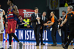 FC Barcelona Lassa's coach Georgios Bartzokas duringTurkish Airlines Euroleague match between Real Madrid and FC Barcelona Lassa at Wizink Center in Madrid, Spain. March 22, 2017. (ALTERPHOTOS/BorjaB.Hojas)