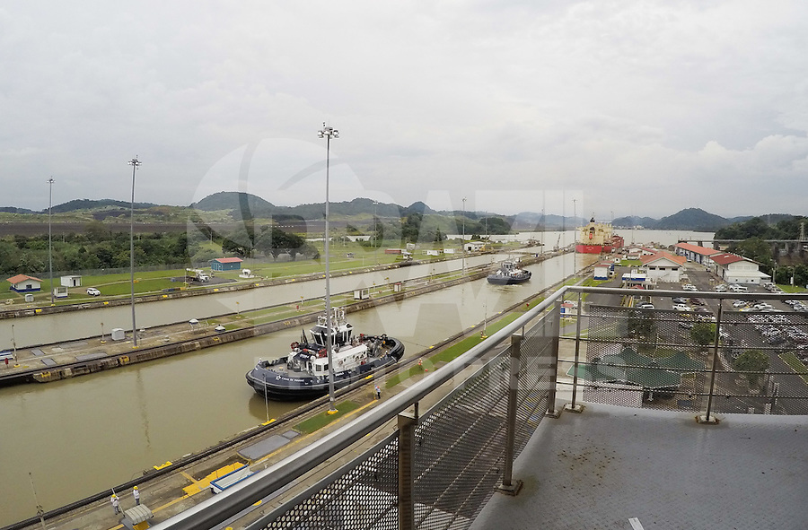 PANAMÁ, PAN, 19.09.2016 – CANAL-PANAMÁ – Vista da Eclusa de Miraflores no Canal do Panamá situado na Cidade do Panamá. (Foto: Ricardo Botelho/Brazil Photo Press)