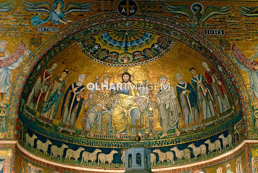 Mosaico na Basilica de Santa Maria em Tratevere, Roma, Italia. 2006. Foto de Luciana Whitaker