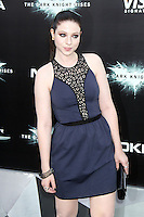 NEW YORK, NY - JULY 16:  Michelle Trachtenberg at 'The Dark Knight Rises' premiere at AMC Lincoln Square Theater on July 16, 2012 in New York City.  © RW/MediaPunch Inc.