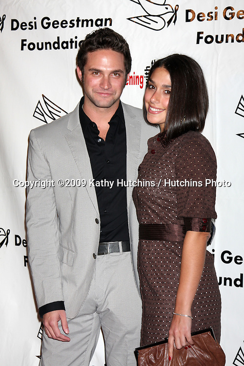 Brandon Barash & Girlfriend.2009 Evening with the Stars Celebrity Gala for the Desi Geestman Foundation.Gilmore Adobe at Farmer's Market.Los Angeles,  CA.October 10,  2009.©2009 Kathy Hutchins / Hutchins Photo.