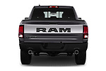 Straight rear view of 2017 Ram 1500 Rebel Crew 4 Door Pick Up stock images